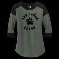 SR Bears Paw Circle - ® Ladies Heritage Blend 3/4 Sleeve Baseball Raglan Tee - ® Ladies Heritage Blend 3/4 Sleeve Baseball Raglan Tee Thumbnail
