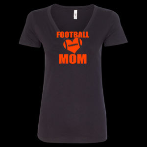 SR Bears Glitter Football Mom - Women's Ideal V - Women's Ideal V Thumbnail
